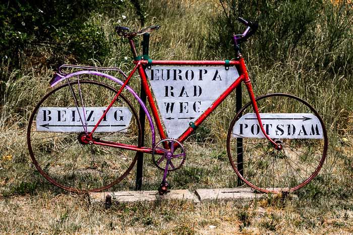 Cycle touring Germany bike signage