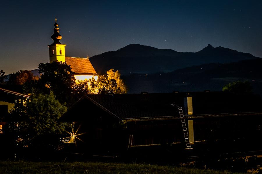 The Best and Worst of Cycle Touring Austria - Night Village