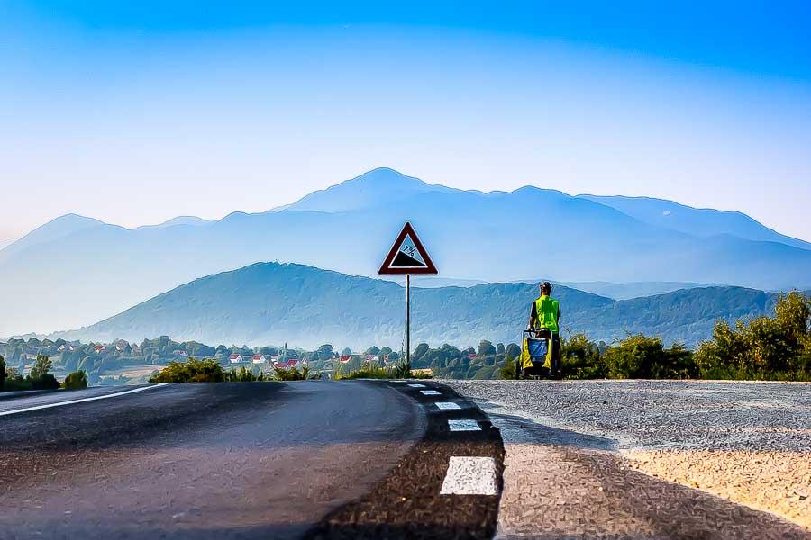 Cycle Touring Croatia. Heading towards Bosnia.