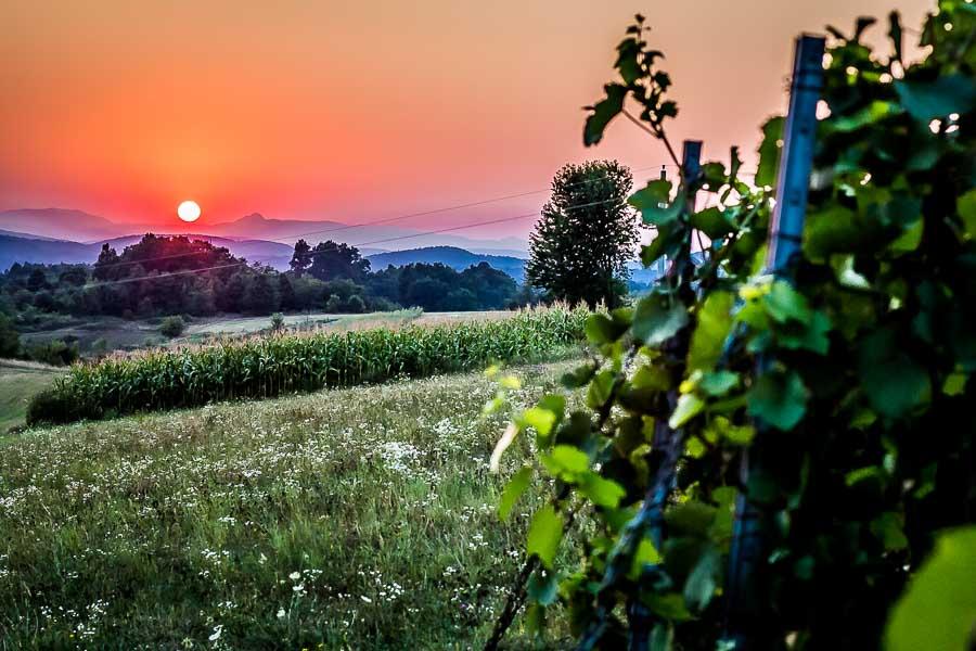 Cycle Touring Croatia. Sunset Slunj.