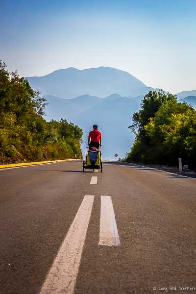 Our final kilometers before embarking into the unknown of Albania.