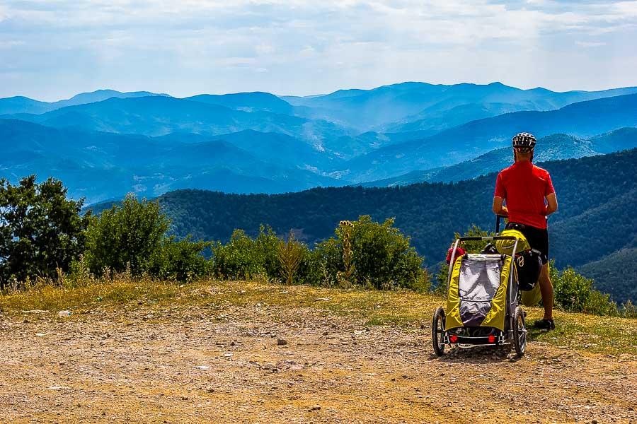 Overlooking Bosnia. Cycle Touring Bosnia