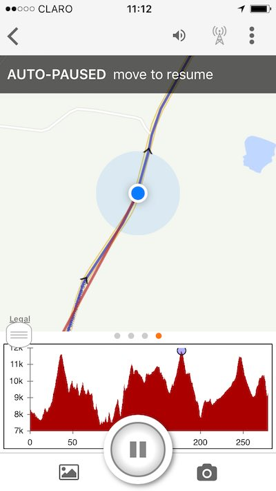 Ride with gps screenshot of usage.