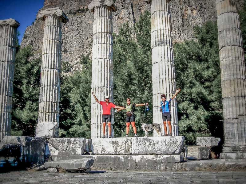 Our host Ayhan in Söke, Turkey welcome Sora into his home and took us on a local bike ride through some Roman ruins.