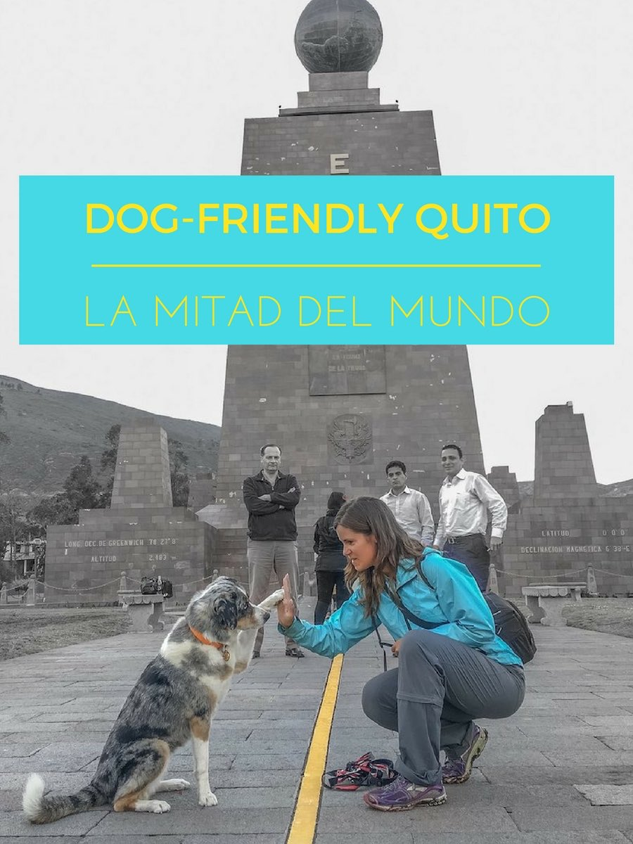 Sora high fives cross hemispheres. Dog-Friendly Quito: La Mitad del Mundo | Long Haul Trekkers