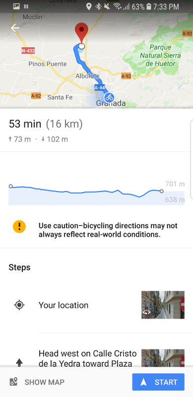 Google Maps has great route planning.