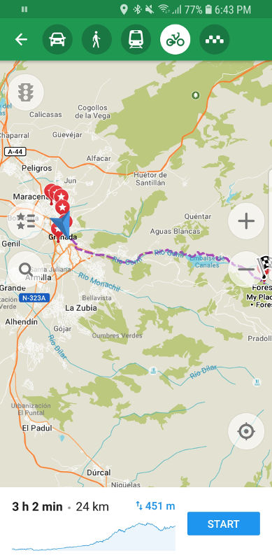 Maps Me is our favorite app for planning. The Best Offline Mapping Tools for Cycle Touring winner is Maps Me.
