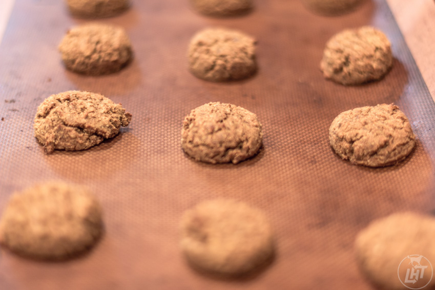 These homemade vegan and grain-free pumpkin dog treats are packed with tons of healthy ingredients like chickpea flour, coconut flour, coconut oil, and molasses. You may even want to eat them yourself!
