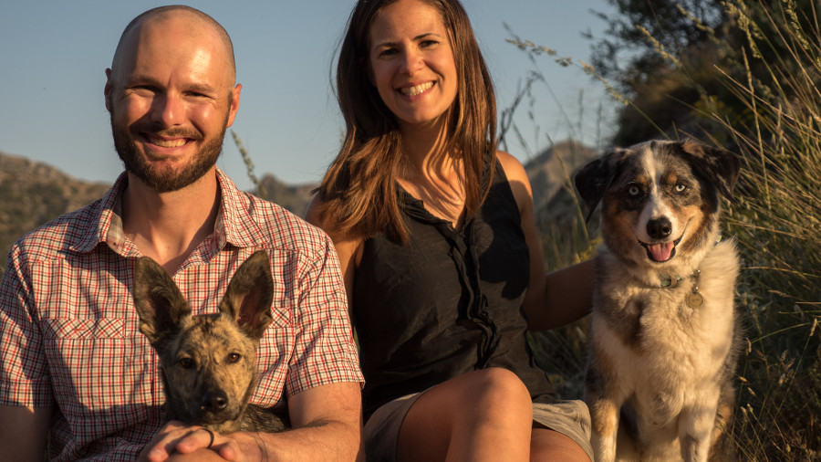Adventure with dogs Family picture