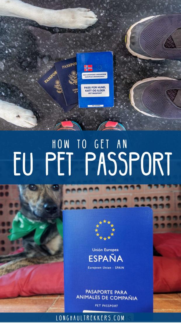EU Pet Passport Pinterest Image.