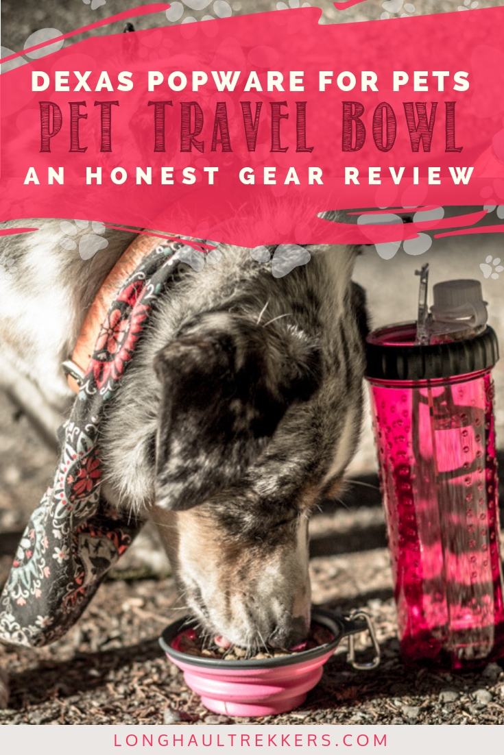 Portable, packable, durable, and easy to clean. An honest review of Dexas collapsible pet travel bowls.