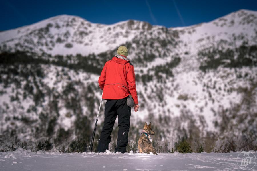Snowshoeing in Sorteny in Andorra.