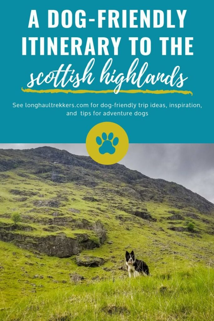 Dog-Friendly Itinerary to the Scottish Highlands Pinterest Image