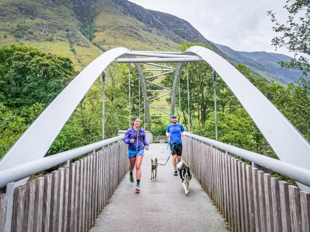 Trail Running in Fort William in the Scottish Highlands.