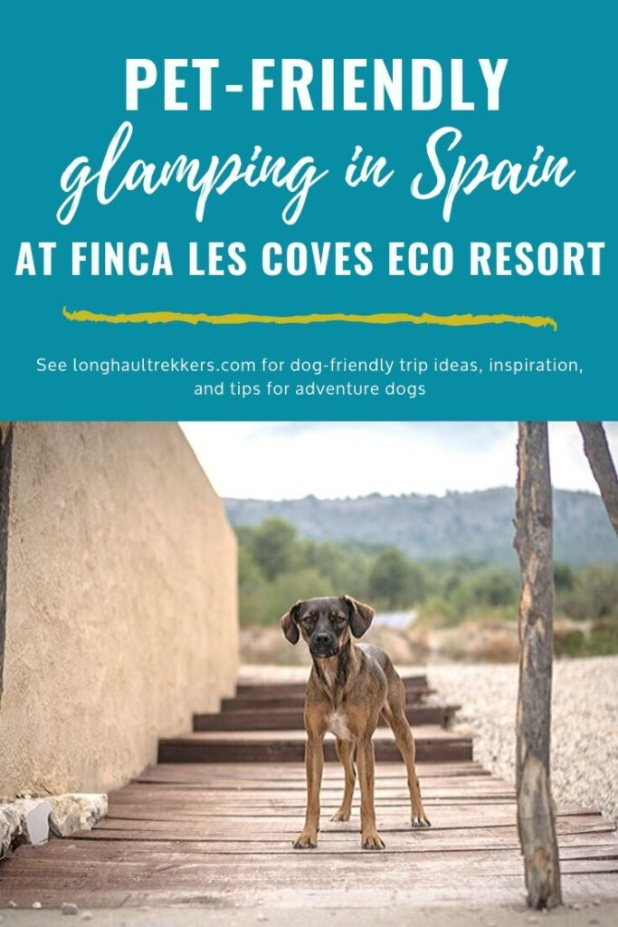 Pet Friendly Glamping in Spain Pinterest Image