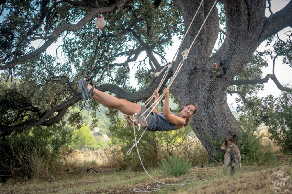 The tree swing at Finca Les Coves.