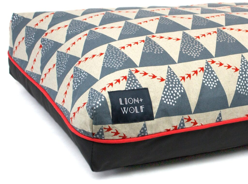 Lion + Wolf dog bed on Etsy