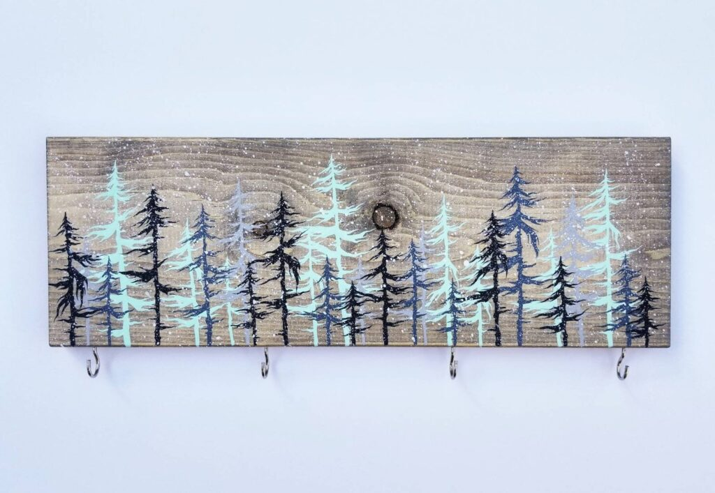 The Woolly Bugger mountain-inspired art on Etsy