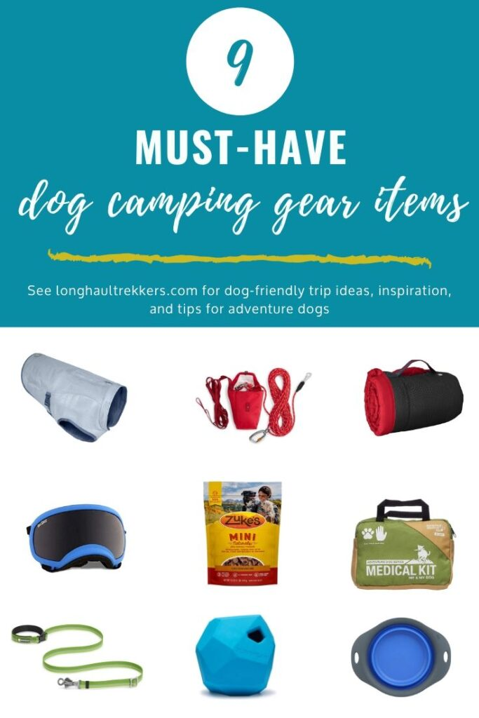 Dog Camping Gear Essentials Pinterest Image