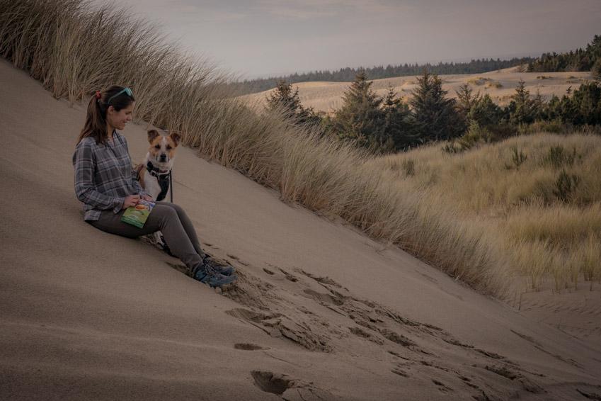 Oregon Sand Dunes Recreation Area on the Central Oregon Coast near Florence.