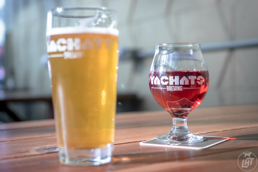 Yachats Brewing in Yachats has a dog-friendly table available year round.