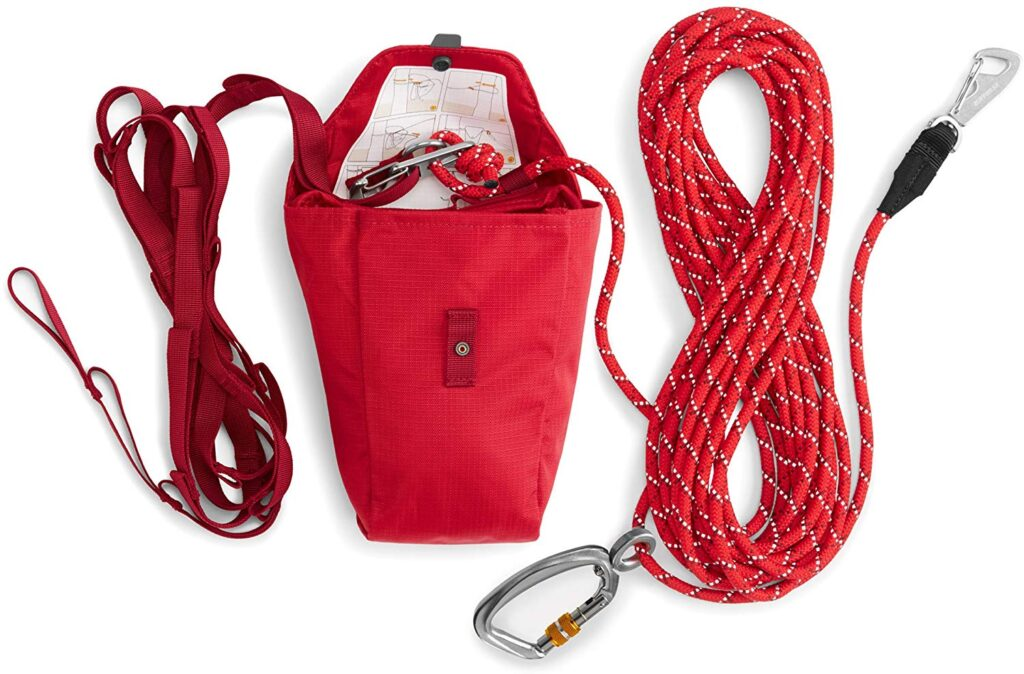 The Ruffwear Knot-a-Hitch keeps your dog safe and secure at camp