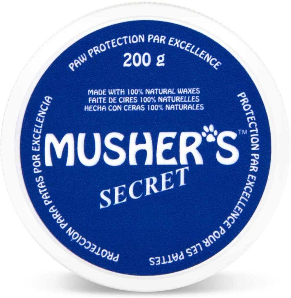 Musher's Secret is a well known paw protection wax for dogs