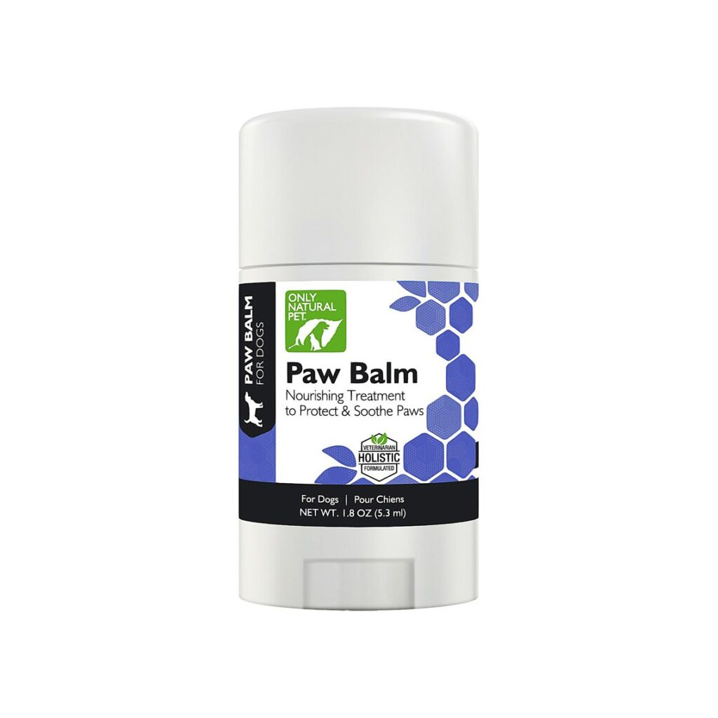 Only Natural Pet Paw Balm comes in an easy to use tube.