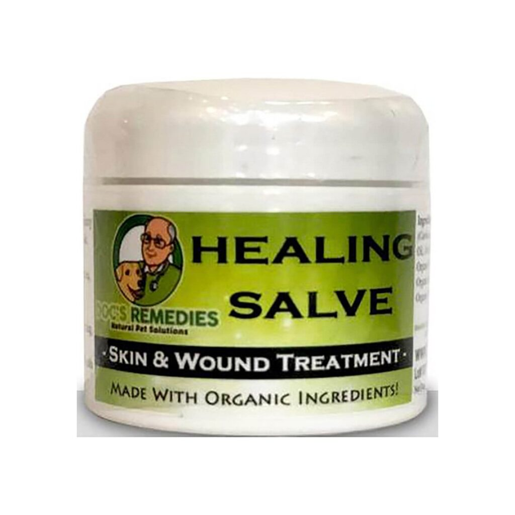 Doc's Remedies Healing Salve uses mostly organic ingredients for their dog paw wax.