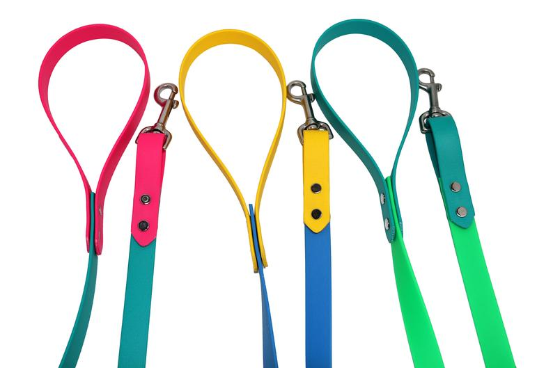 Moxie Collars Two Tone Dog Collar and Leash Combo