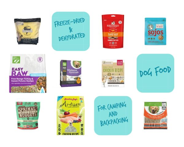 Freeze-Dried and Dehydrated dog foods for camping