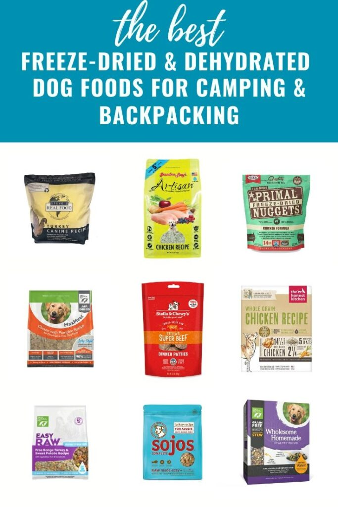 freeze-dried and dehydrated dog food for backpacking