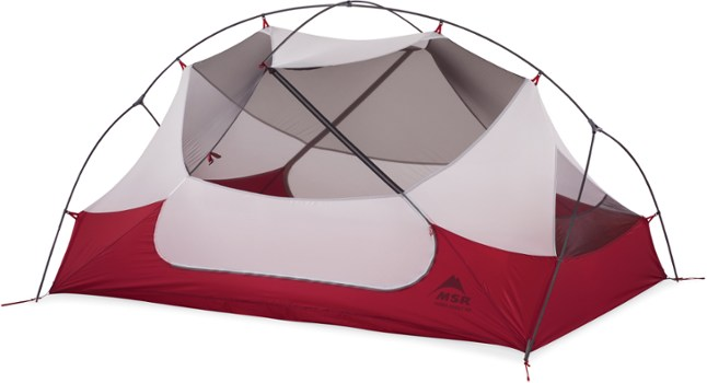 The MSR Hubba Hubba NX 2 is a great backpacking tent for camping with dogs.
