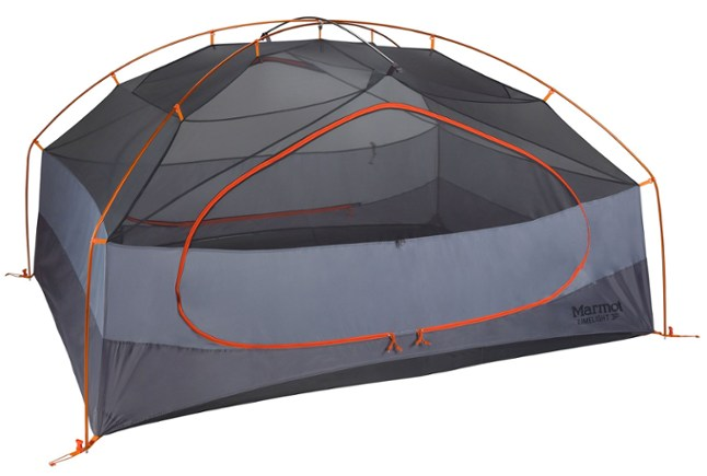 The Marmot Limelight 3P Tent is the best budget tent for camping with two people + a dog.