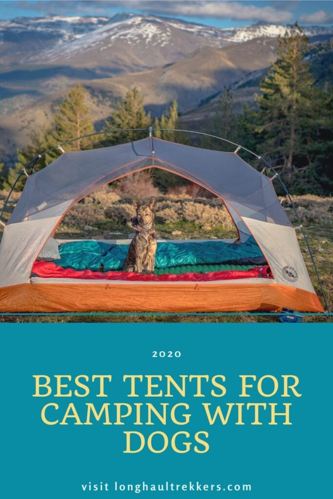 Best Tents for Camping with dogs pinterest Image