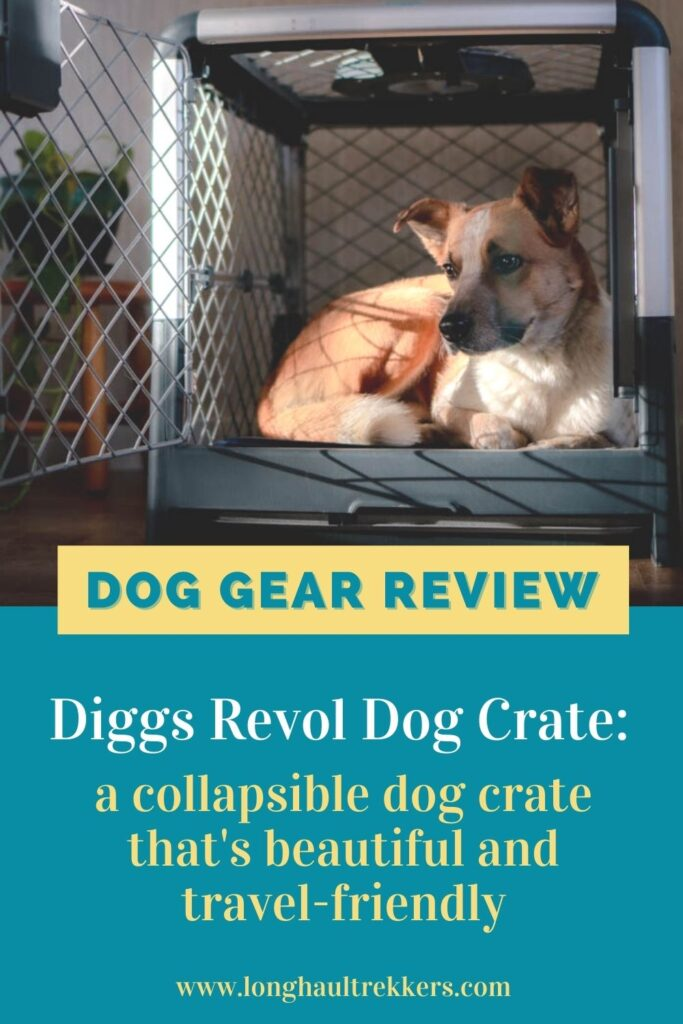 The Diggs Revol Dog Crate Pinterest Image