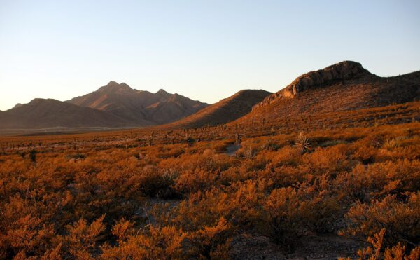 Sunset in the Franklin Mountains in El Paso