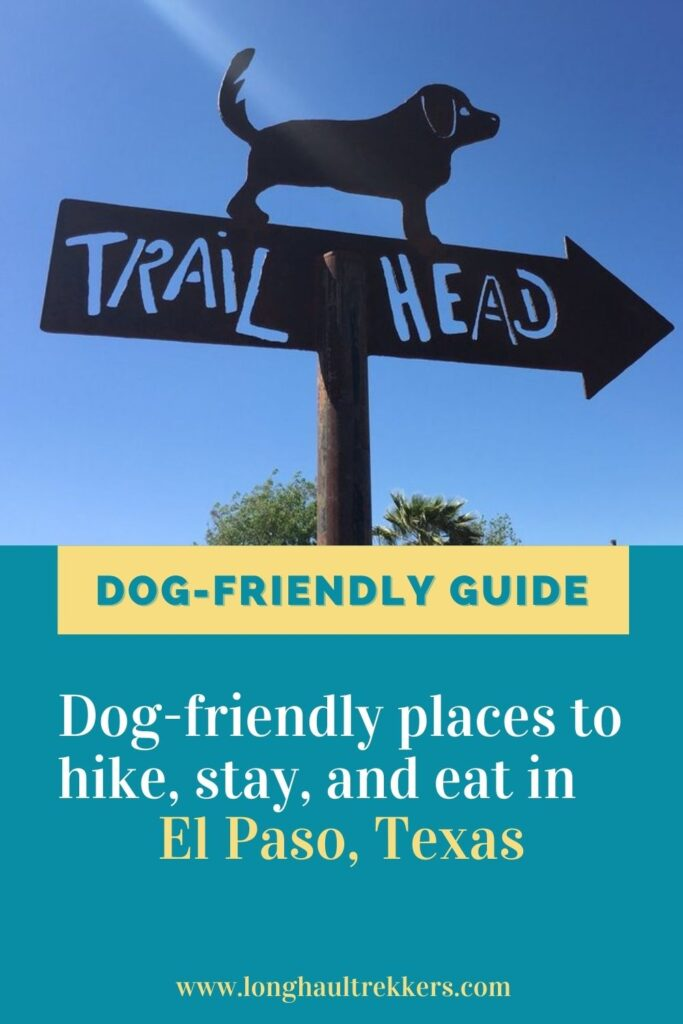 Dog friendly guide to El Paso Texas Pinterest Image