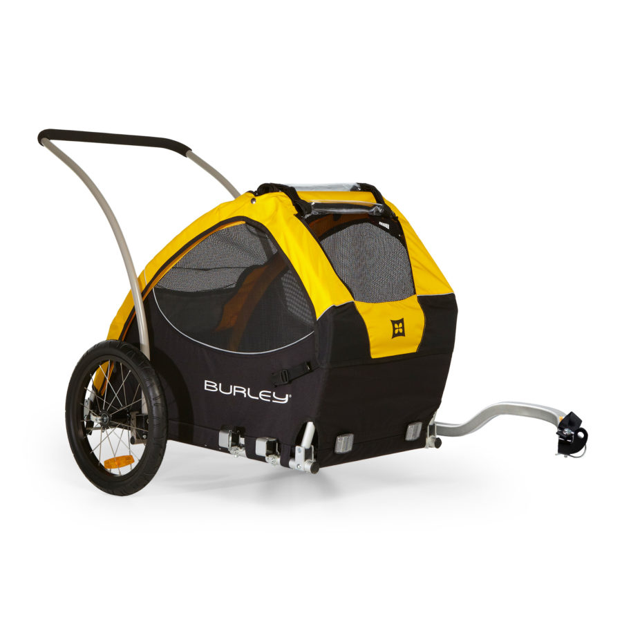 The Burley Tail Wagon is the best dog bike trailer on the market. Hands down.