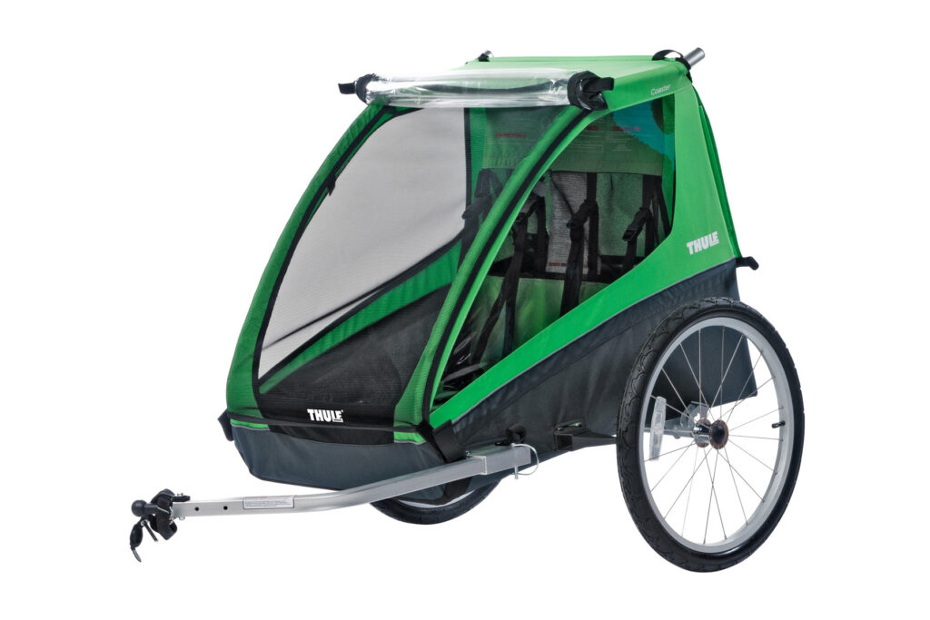 The Thule Cadence is a great option for paved bike travel with your dog.