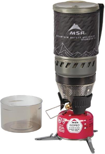The MSR WindBurner system boils water efficiently for all of your backpacking meals.