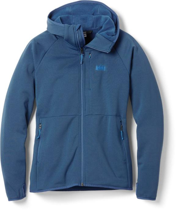 Get cozy at camp with the REI Hyperaxis Fleece, on sale at the REI Labor Day Sale.