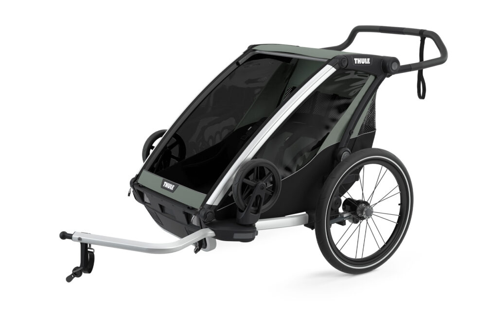 The Thule Chariot 2 Lite is a great multisport dog bike trailer.