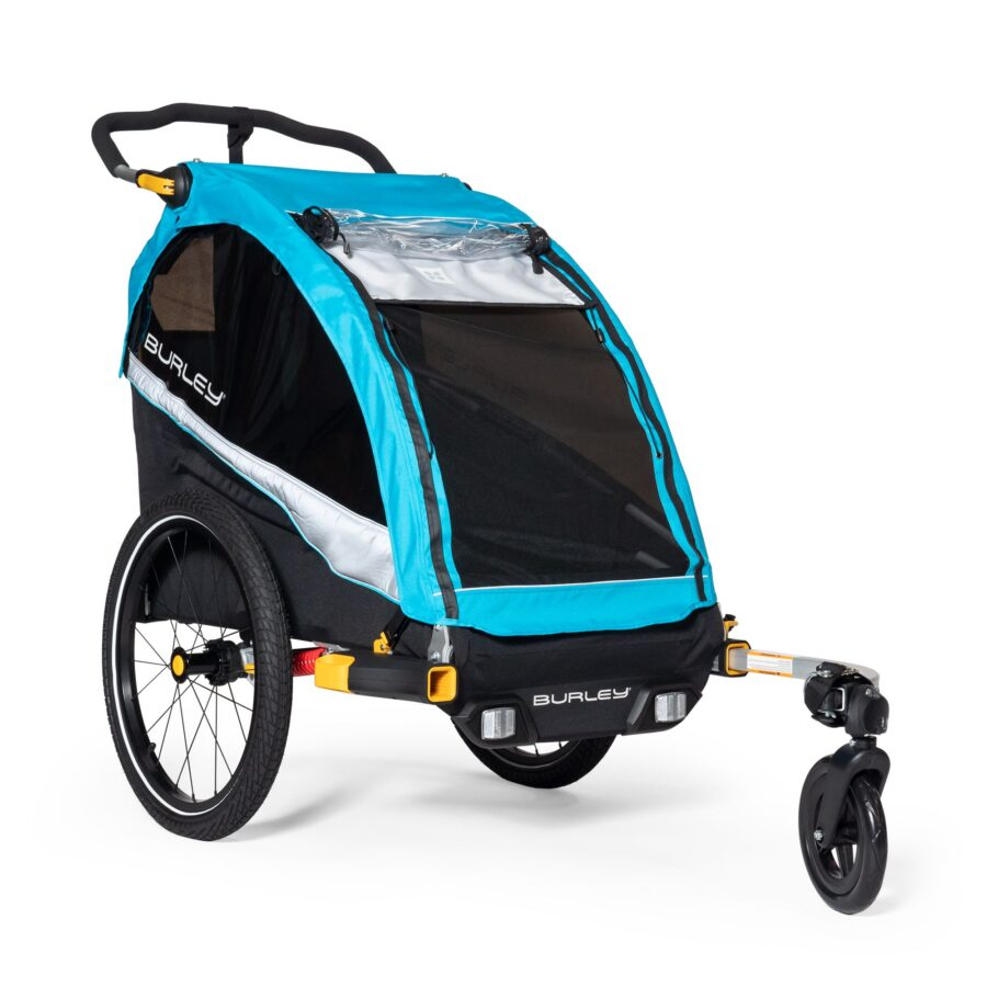 If you plan to ride with your dog over dirt roads, the Burley D'lite is our pick for the best dog bike trailer.